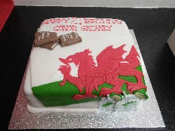 Welsh Dragon 21st Birthday Cake