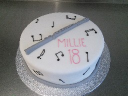 Musical Themed 18th Birthday Cake