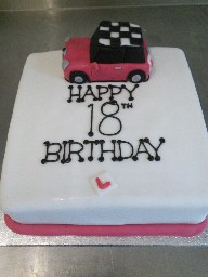 Mini Cooper 18th Birthday Cake