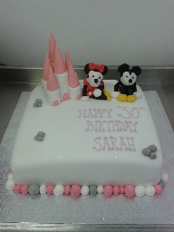 Mickey and Minnie Mouse, Disney Castle 30th Birthday Cake
