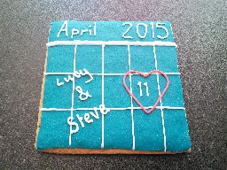 Giant Save The Date Gingerbread Biscuit