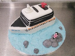 Cruise Ship Birthday Cake
