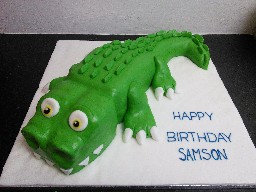 3D Crocodile Birthday Cake