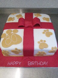 Doggy Footprint Birthday Cake