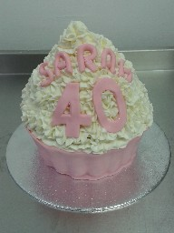 Giant 40th Cup Cake