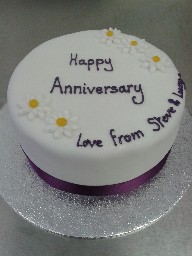 Wedding Anniversary Celebration Cake