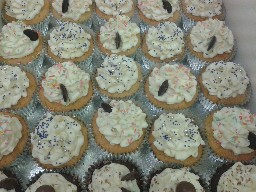 Sparkly Chocolate Button, Butter-Cream Cup Cakes