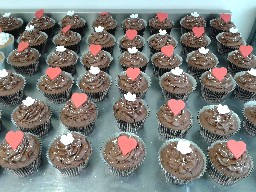 Valentines Day Chocolate Butter-Cream Cup Cakes