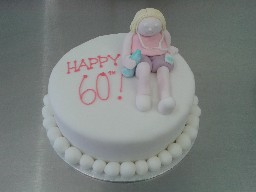 Simple 60th Birthday Cake