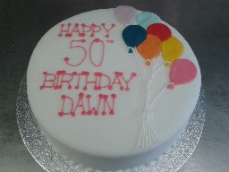50th Birthday Balloon Cake