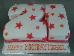 21st Starry Number Birthday Cake