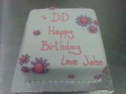 Simple Flowery Birthday Cake