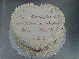 Heart Shaped Buttercreamed Birthday Cake