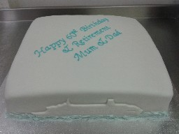 Plain and Simple, Cruise Themed Birthday and Retirement Cake