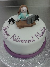 Office Worker Retirement Cake