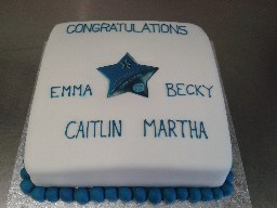 Simple Congratulations Cake