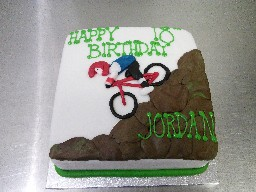 Mountain Biking Themed 18th Birthday Cake