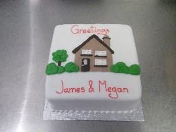 Moving Home Greetings Cake