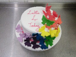 Rainbow Butterflies 4th Birthday Cake