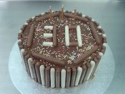 Chocolate Finger 30th Birthday Cake