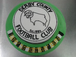Derby Country Rams Badge Birthday Cake