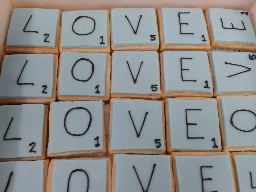 Scrabble Tile Love Shortbread Biscuits