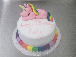 Rainbox Unicorn 3rd Birthday Cake
