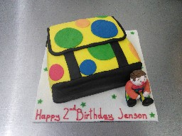 Mr Tumble Bag 2nd Birthday Cake