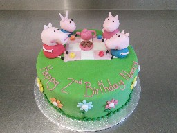 Peppa Pig Tea Party 2nd Birthday Cake