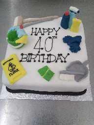 Cleaning Supplies 40th Birthday Cake