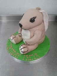 Ikea Cuddly Rabbit Toy Birthday Cake