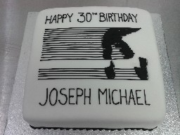 Michael Jackson Dancing 30th Birthday Cake