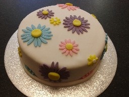 Simple and Colourful Flowery Birthday Cake