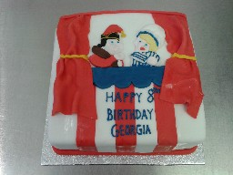 Punch and Judy 8th Birthday Cake