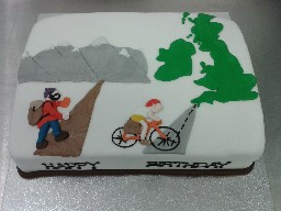 Climbing and Cycling Birthday Cake