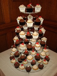 Wedding Cake Heart Cup Cake Tower