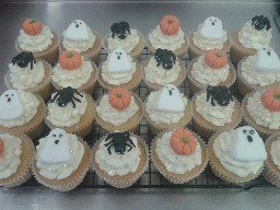 Assorted Scary  Halloween Cup Cakes