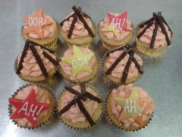 Bonfire Night Fireworks Cup Cakes