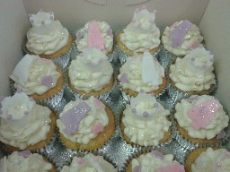 Assorted Buttercreamed 4th Birthday Cup Cakes