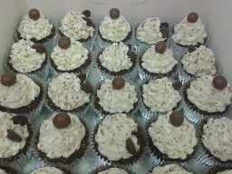 Malteser and Buttons Buttercreamed Chocolate Cup Cakes