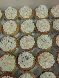 Assorted Simple Buttercreamed Cup Cakes