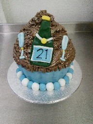 Giant 21st Birthday Chocolate Cup Cake